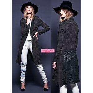FP Lace Lapel Menswear Jacket Open Back Duster 10